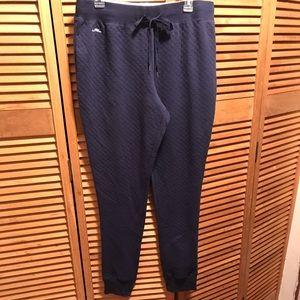 Lauren Ralph Lauren Navy Blue Quilted Joggers